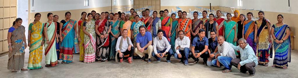 team manufacturing workshop CSI cotton fair trade organic bag