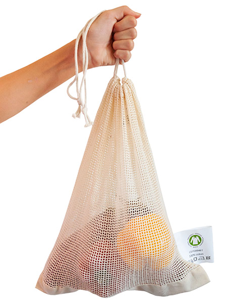 Fruit and vegetable net bag organic cotton